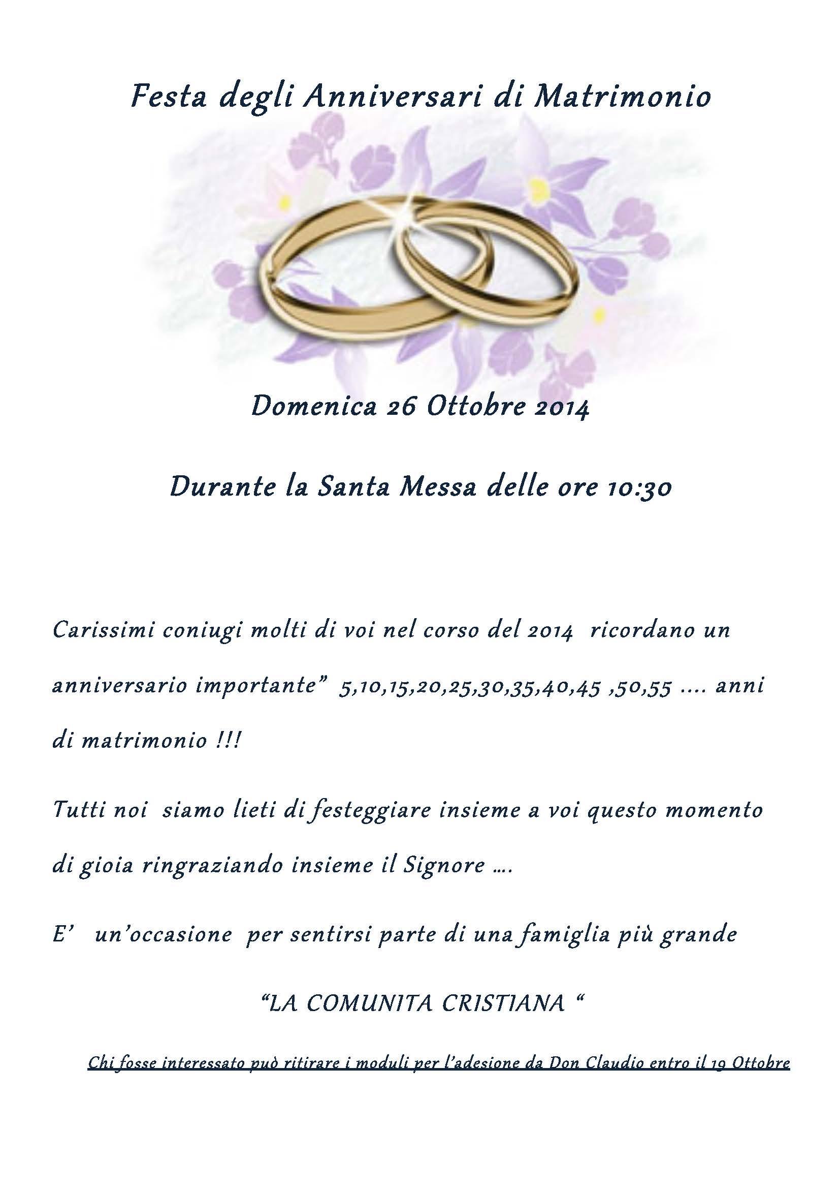 Festa Di Anniversario Di Matrimonio.Festa Degli Anniversari Parrocchia San Martino Della Battaglia
